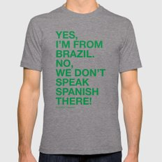 From Brazil I LARGE Tri-Grey Mens Fitted Tee