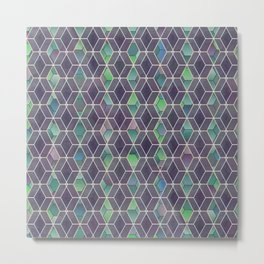 Hexagonal mashrabiya pattern Metal Print