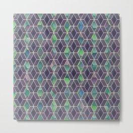 Hexagonal mashrabiya pattern Metal Print