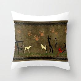 Cavemen Wall Throw Pillow