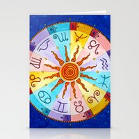 zodiac Stationery Cards featuring Zodiac by Sandra Nascimento