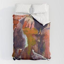 Chickens Before Sundown Comforters