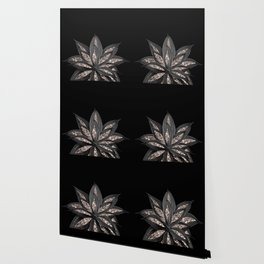 Gray Black Agave with Rose Gold Glitter #1 #shiny #tropical #decor #art #society6 Wallpaper