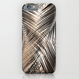 Golden Brown Palm Leaves Dream - Cali Summer Vibes #1 #tropical #decor #art #society6 iPhone Case