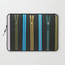 Zippers for clothes on black Laptop Sleeve