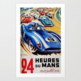 Le Mans poster, 1956, race poster, t shirt Art Print