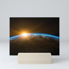 Sunrise Planet Earth Mini Art Print