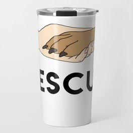 Animal Rescue - Paw Art (Dark Edition) Travel Mug