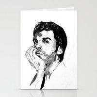 dexter Stationery Cards featuring Dexter by Giorgia Ruggeri