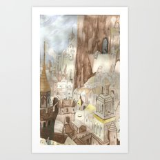Minas Tirith - Lord of the Rings Art Print