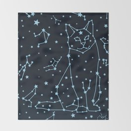 Starcat Throw Blanket