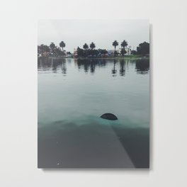 Floating Barrell Metal Print
