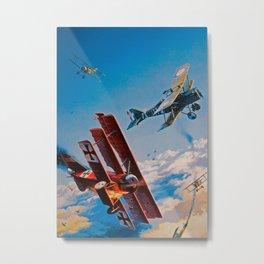 Fokker Dr.1 Metal Print