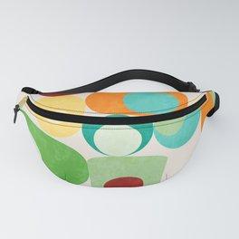Geometric mid century modern summer shapes 2 Fanny Pack