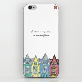 Lifetchen Inspirational Phonecase- Georgetown Houses iPhone Skin