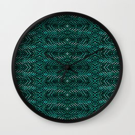 """Fake feathers (aqua) Wall Clock"