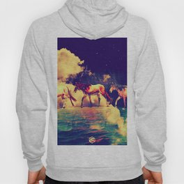 Horses to the moon by #Bizzartino Hoody