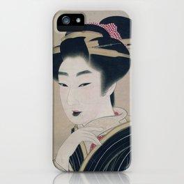Ukiyoe depicting a Gion geisha iPhone Case