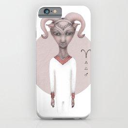 aries astro portrait iPhone Case