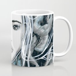 Girl Portrait Drawing Coffee Mug