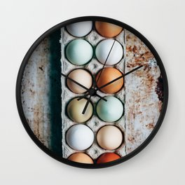 Farm Eggs Wall Clock
