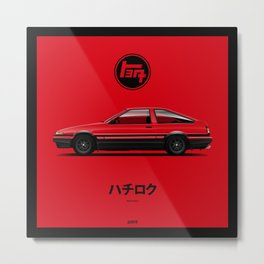 Toyota AE-86 - Red Metal Print