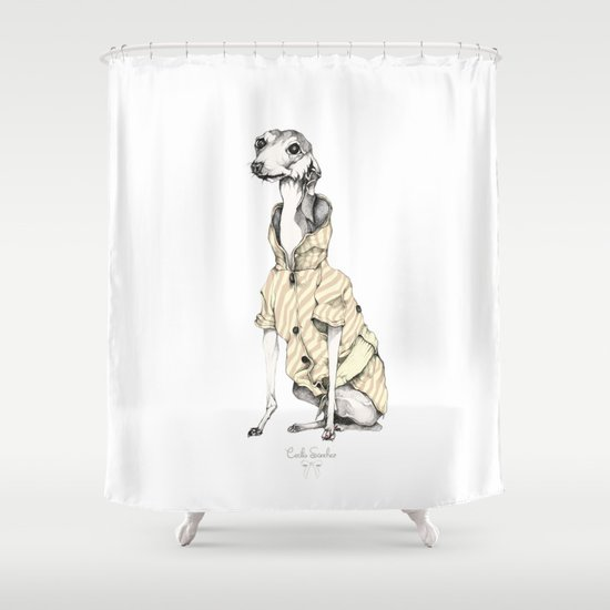 he would never do it Shower Curtain