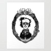 poe Art Prints featuring Poe by Shawn Dubin