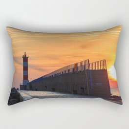 Light House at Port la Nouvelle South France Rectangular Pillow