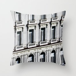 Shuttered Windows Throw Pillow