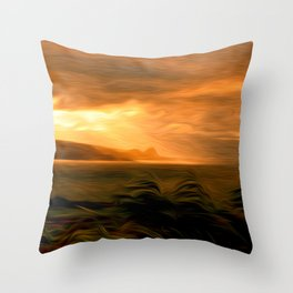 Clearing Squall Throw Pillow