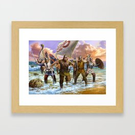 Viking attack Framed Art Print
