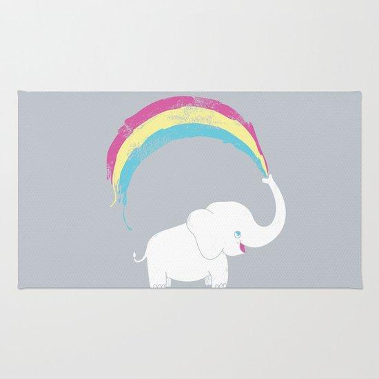 Elephant Painting! Rug