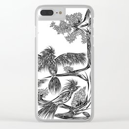 Japanese Birds Clear iPhone Case