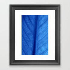 blue leaf Framed Art Print