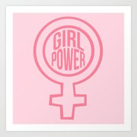 girl power Art Prints featuring girl power by jupiter