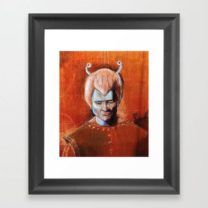 Angry Andorian Framed Art Print