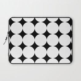 Black stars and white circles Laptop Sleeve