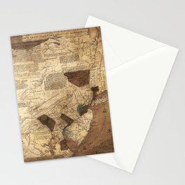 Map of Pensilvania, New Jersey, NewYork, and three Delaware counties (1752) Stationery Cards