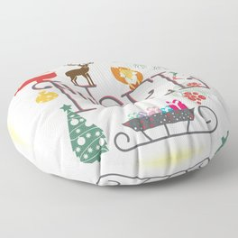 Christmas Noel Floor Pillow