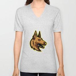 Belgian Malinois Dog Mascot Unisex V-Neck