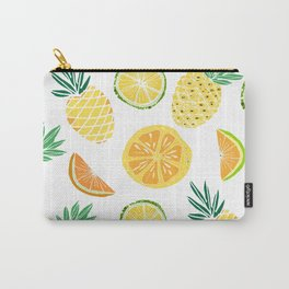 Fresh tropical fruits. Pineapple, orange, lime, grapefruit. Carry-All Pouch