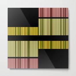 An abstract geometric pattern . Alex 5. Metal Print