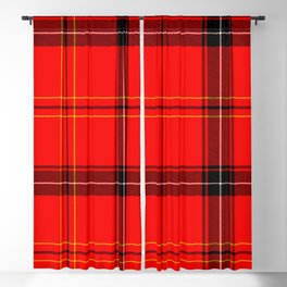 Red Plaid Blackout Curtain