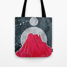 The Three Moons Over The Mountains Tote Bag