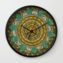 Malachite Baroque Mandala Wall Clock