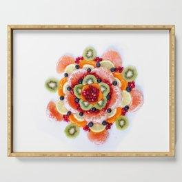 """What the Fruit"" Mandala Serving Tray"