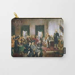 Scene at the Signing of the Constitution of the United States - Howard Chandler Christy Carry-All Pouch
