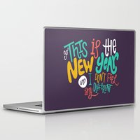 new year Laptop & iPad Skins featuring New Year by Chelsea Herrick