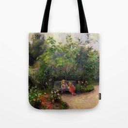 """Camille Pissarro """"Jardin de l'Hermitage"""" Tote Bag"""